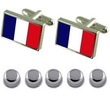 Shirt Dress Studs France Flag Cufflinks