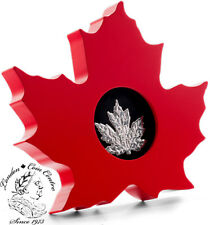 Canada 2015 $20 Canadian Maple Leaf Silver Leaf Shaped Coin