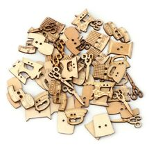 50Pcs 2 Holes Mixed Sewing Machine Kit Wooden Button DIY Scrapbooking Craft