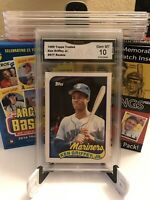Ken Griffey Jr. 1989 Topps Traded #41T Rookie GMA Gem MT 10