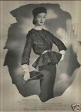 50's Bonwit Teller & Umpa Fur Fashion Ads - Evelyn Tripp  1957