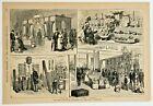 BRITISH COLONIAL EXHIBIT 1876 Centennial Exposition Antique Original engraving