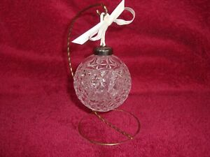 2000 Times Square Millenium Waterford Crystal Ball Christmas  Ornament W/ Stand