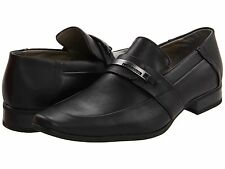 Calvin Klein Men's Brice Action Slip On Leather Black F0025 Size 7US
