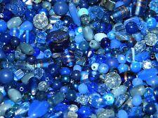 NEW 4/oz GLASS, Gemstone Semiprecious,  6-15mm DARK BLUES MIXED LOOSE BEADS LOT