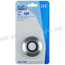 Jjc Auto Abierto Tapa del lente para Olympus M.zuiko Digital Ed 14-42mm F3.5-5.6 Ez Plata