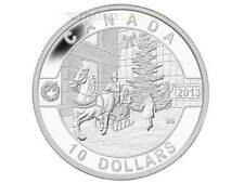 10 $ Dollaro Natale Holiday Stagione O Canada Canada 2013 PP Argento 1/2 oncia