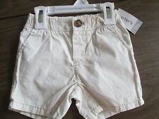 Carter's NWT Size 12 Mos beige shorts, 100% cotton, MSRP $16
