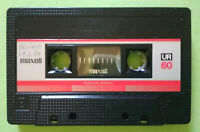MC Musicassetta MAXELL UR 60 vintage compact cassette audio tape USATA no tdk
