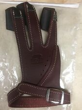 Bear Archery Traditional Glove  by Neet Products Brown Leather Left Hand X-large
