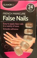 Glamorize French manicure fake Nails (24 Pack, Includes Adhesive)
