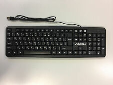 Brand New Quality Black Wired USB Arabic / English Bilingual Keyboard  for PC