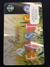 Starbucks card ebay easter bunny rabbit eggs card 2017 starbucks card gb uk coffee card negle Gallery