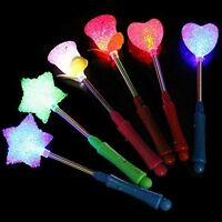 3/1x LED Flashing light up stick Colors Glow Rose Star Wand Party Concert Hot ;