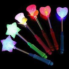 5 pcs LED Flashing light up stick Multi Color Glow Rose Wand Party Concert Favor