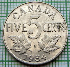 CANADA GEORGE V 1934 5 CENTS