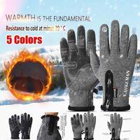Men Women Touch Screen Winter Sports Windproof Waterproof Outdoor Warm Gloves