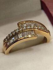 Baguette Cut Diamond Dress Ring in 18K Yellow Gold. Diamonds' weight: 1.25ct.