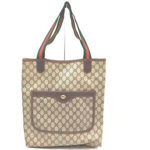 Gucci Tote Bag  Light Brown PVC 1414262