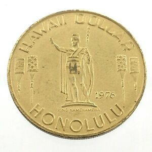 1976 Hawaii Dollar Honolulu Aloha Waikiki Beach Diamond Head Token L873