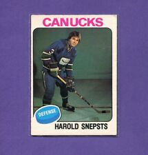 1975-76  *OPC*  HAROLD SNEPSTS  *RC*   Rookie   #396   (EX)   O-Pee-Chee