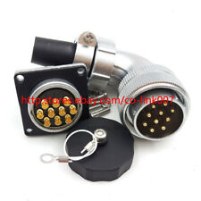 WF28 10Pin Waterproof Power Connector,25A 500V High Voltage Industrial Connector