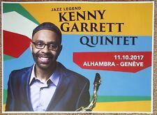 Kenny Garrett 2017 Gig Poster Geneva Switzerland Concert