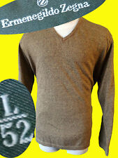 Ermenegildo Zegna sweater orange yellow brown v neck casual cotton