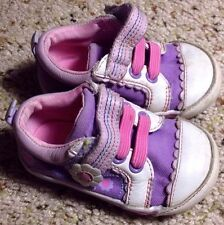 Robeez mini shoez Girll Shies Pink Purple Scalloped Flwr 4MW Sneakers. KED
