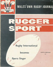 RUGGER SPORT - WELSH RUGBY MAG APPROX OCT 1962 - 9th ED. NELSON & NEATH FOCUS