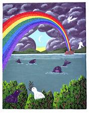 OSCAR De MEJO, Original Serigraph, Rainbow of Birds, Signed Numbered