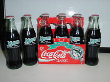 MARLINS 1993 INAUGURAL SEASON COKE BOTTLES, 6-PACK