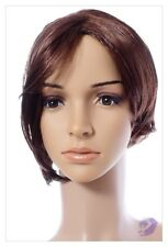 Reddish Brown Synthetic Wig Short Bob Style Ladies  Cosplay