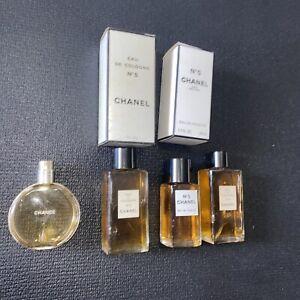 Lot 4 Vintage CHANEL No 5 Paris Eau De 2FL OZ Cologne Chance