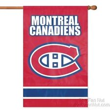 Montreal Canadians 2-sided 28x44 Premium Embroidered Applique Banner Flag Hockey
