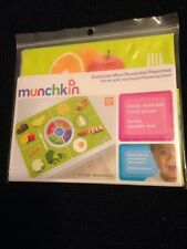"Munchkin Balanced Meal Re-Usable Placemat No-Slip 12"" X 18"", lot of 2"