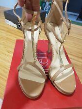 Siren tan with Gold detail heels size 8 EUC $159.95