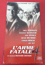 Rare VHS French Movie L'Arme Fatale 4 ! Mel Gibson - Danny Glover +