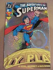 Adventures of Superman #505 DC Comics Foil Cover 9.4 Near Mint