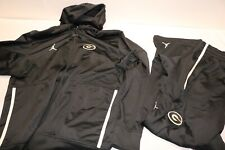 VTG NIKE AIR JORDAN Jumpman TRACK SUIT JACKET + PANTS SET Black RARE (SIZE XL)
