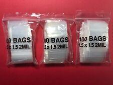 300 High Quality 1 Gram Silver/Gold Bullion Ziplock Bags/Baggies 1.5x1.5