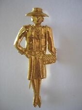 Vintage Madmoiselle Coco Chanel Pin