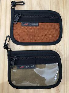 Tom Bihn Pouches - Clear Mini Organizer Pouch & Mini Organizer Pouch - Brand New