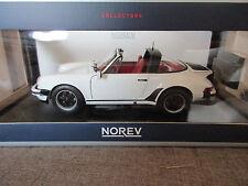 NOREV 187660 Porsche 911 Turbo Targa 3.3 1987 Blanc Métal 1:18 neuf dans sa boîte