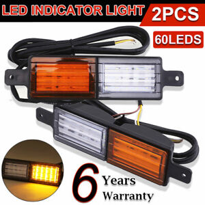 2X 30 LED Sealed Bullbar Lights Front Indicator Park LED Bull Bar Light Car Lamp