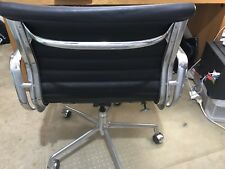 herman miller eames leather office chair aluminium group - genuine