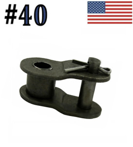 """#40 Offset Link (10 pack) for #40 roller chain 1/2"""" Pitch"""