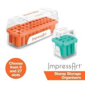 ImpressArt Storage Box Case for 3 mm 4 mm 6 mm Alphabet Letter or Number Sets