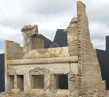 """Dioramas Plus 1/35 """"Apartment Ruins"""" Ruined 2-Story Building Front Section DP7"""
