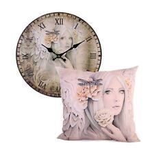 Summer Rose By Jessica Galbreth Cushion & Clock